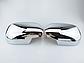 Накладки на зеркала TOYOTA LAND CRUISER PRADO 120 (2002-2009) нерж., фото 4