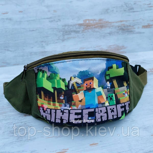 Детская поясная сумка ( бананка майнкрафт) для мальчика Minecraft