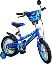 Двухколесный детский велосипед 14 дюймов Like2bike Sprint 191423 Синий с боковыми тренировочными колесами