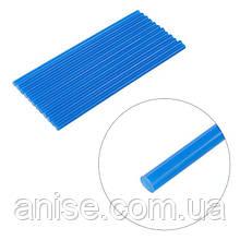 Комплект голубых клеевых стержней 7 мм*200 мм, 12шт / Комплект блакитних клеєвих стержнів 7 мм*200 мм, 12 шт