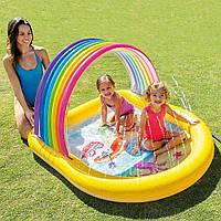 Надувной  детский бассейн  с фонтаном  Радуга,  Bestway   57156