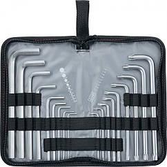 Набор ключей имбусовых HEX-TORX, 18 шт: HEX 1,5-10 мм, T10-T50, CrV, удлиненныхс сатиновым покрытием Matrix