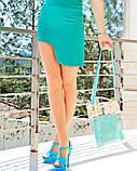 Мятная юбка с боковой выемкой S, фото 2