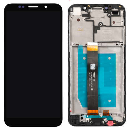 Дисплей (экран) для Huawei Honor 7A 5.45 с сенсором (тачскрином) и рамкой черный Оригинал
