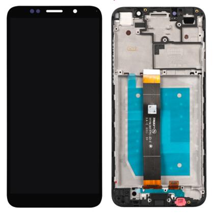 Дисплей (экран) для Huawei Honor 7A 5.45 с сенсором (тачскрином) и рамкой черный Оригинал, фото 2