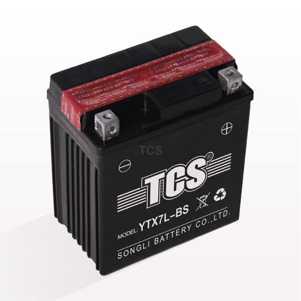 Аккумулятор 7Аh МОТО YTX7L-BS кислотный (L110*W70*H126mm), 2020