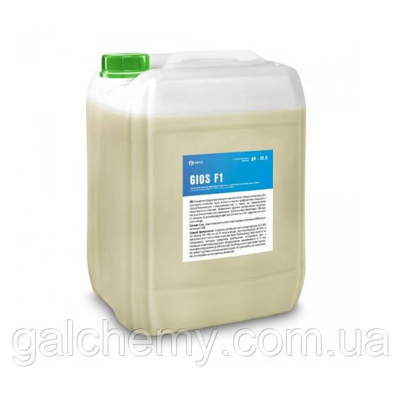 Лужний пінний миючий засіб із вмістом активного хлору GIOS F1 (каністра 19 л), TM Grass