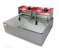 Фритюрница двойная электрическая профессиональная GoodFood EF66, КОД: 1388958