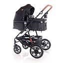 Детская универсальная коляска 3в1 черная Lorelli Lora set с автокреслом детям от рождения и до 3 лет, фото 2