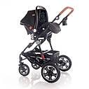 Детская универсальная коляска 3в1 черная Lorelli Lora set с автокреслом детям от рождения и до 3 лет, фото 6