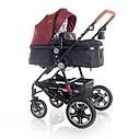 Детская универсальная коляска 3в1 красно-черная Lorelli Lora set с автокреслом детям от рождения и до 3 лет, фото 2