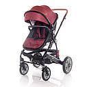 Детская универсальная коляска 3в1 красно-черная Lorelli Lora set с автокреслом детям от рождения и до 3 лет, фото 3