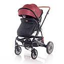 Детская универсальная коляска 3в1 красно-черная Lorelli Lora set с автокреслом детям от рождения и до 3 лет, фото 4