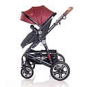 Детская универсальная коляска 3в1 красно-черная Lorelli Lora set с автокреслом детям от рождения и до 3 лет, фото 6
