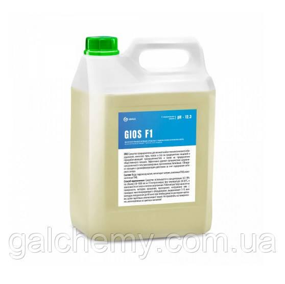 Лужний пінний миючий засіб із вмістом активного хлору GIOS F1 (каністра 5 л), TM Grass