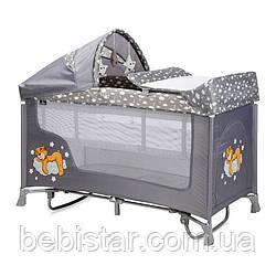 Кровать-манеж Lorelli San Remo 2 Layers Plus Rocker с рождениядо 36-ти месяцев Серый