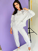 Женский светло-серый модный спортивный костюм (оверсайз) Rocamoon
