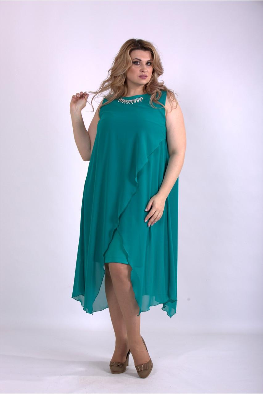 Ошатне вечірній шифонова батальне сукню з 42 по 74 розмір