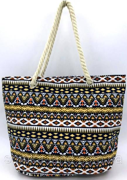 Женская летняя пляжная сумка с графическим принтом 45*28 см