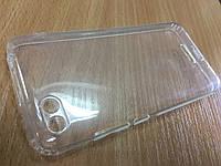 Оригинальный прозрачный силиконовый чехол бампер для Xiaomi Redmi 6A прозрачный с заглушками