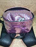 (30*23)Женский рюкзак YSL Двухслойный(глитер+плёнка) качество городской стильный Популярный только опт, фото 5