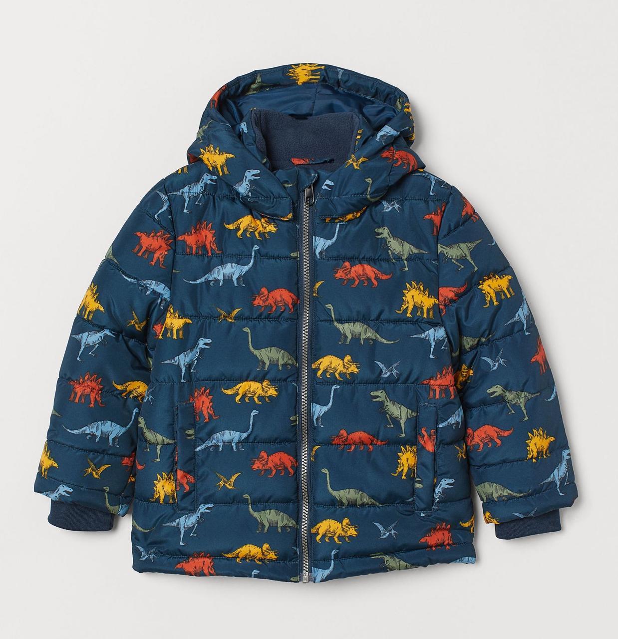 Демисезонная куртка с динозаврами для мальчика H&M Швеция Размер 128