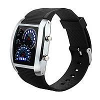 Модные светодиодные мужские часы с подсветкой код 456