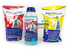 Хімія для басейну, комплект «АкваДоктор» (шок–хлор, альгіцид, мультитаб)