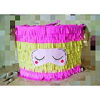 Бумажная Пиньята Подушка с маской для сна для празднования Дня рождения в стиле Пижамная вечеринка. 50*35 см.