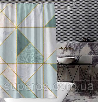 Тканевая шторка для ванной и душа 180х200 см Геометрия