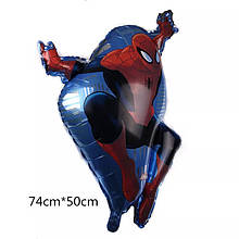 Фольгированный шар фигура человек - паук  76*45 см.