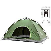 Палатка автоматическая 2-х местная | Палатка кемпинговая Smart Camp | Зеленый (Живое фото)