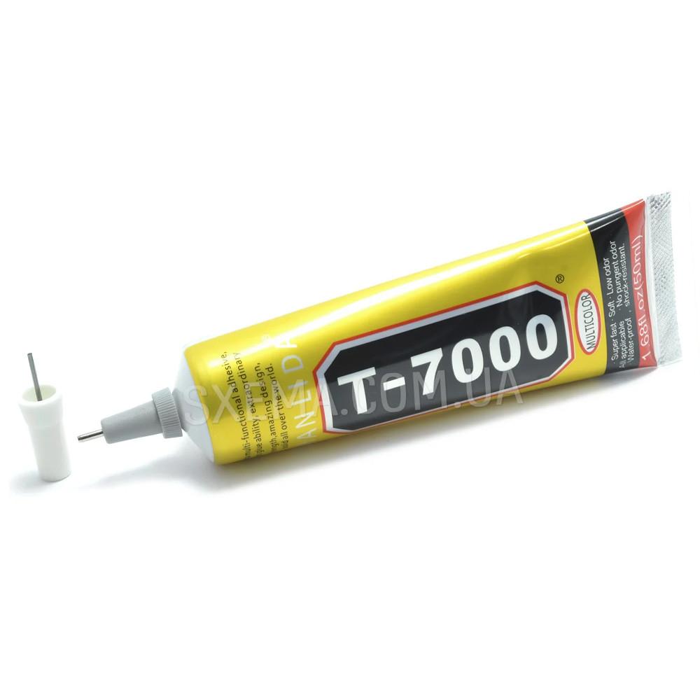 Силиконовый клей T-7000 50мл чёрный, в тюбике с дозатором