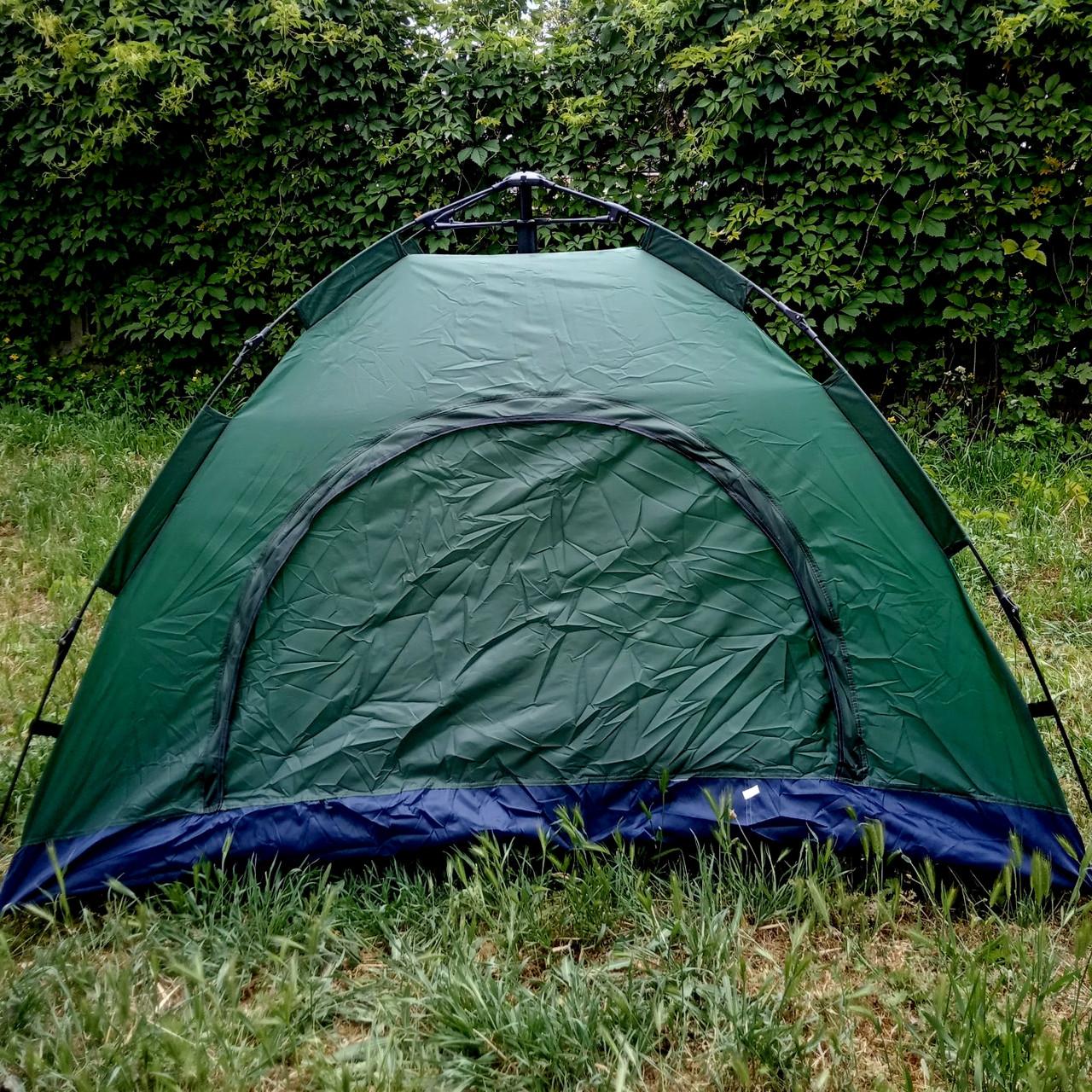 Палатка автоматическая Smart Camp, 2-х местная, зеленая (Живое фото)