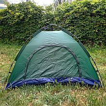 Палатка автоматическая 2-х местная ЗЕЛЕНАЯ (Живое фото)