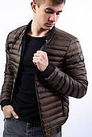 Мужская куртка хаки полиэстер осень и весна Турция демисезонная куртка болотным цветом