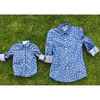 Рубашка (детская) ДЖИНСОВАЯ 10302