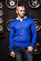 Джемпер чоловічий синій 7048