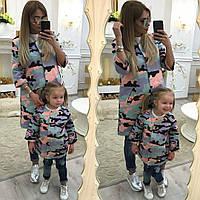 Пальто детское familylook Камуфляж 10311 на 1 годик