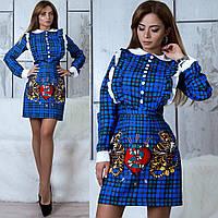 Сукня школярки з малюнком 10773