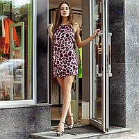 Леопардове плаття з відкритою спиною 10226