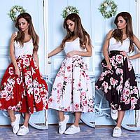 Пышная юбка с розами  11032