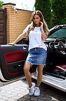 Юбка джинсовая на молнии 4573