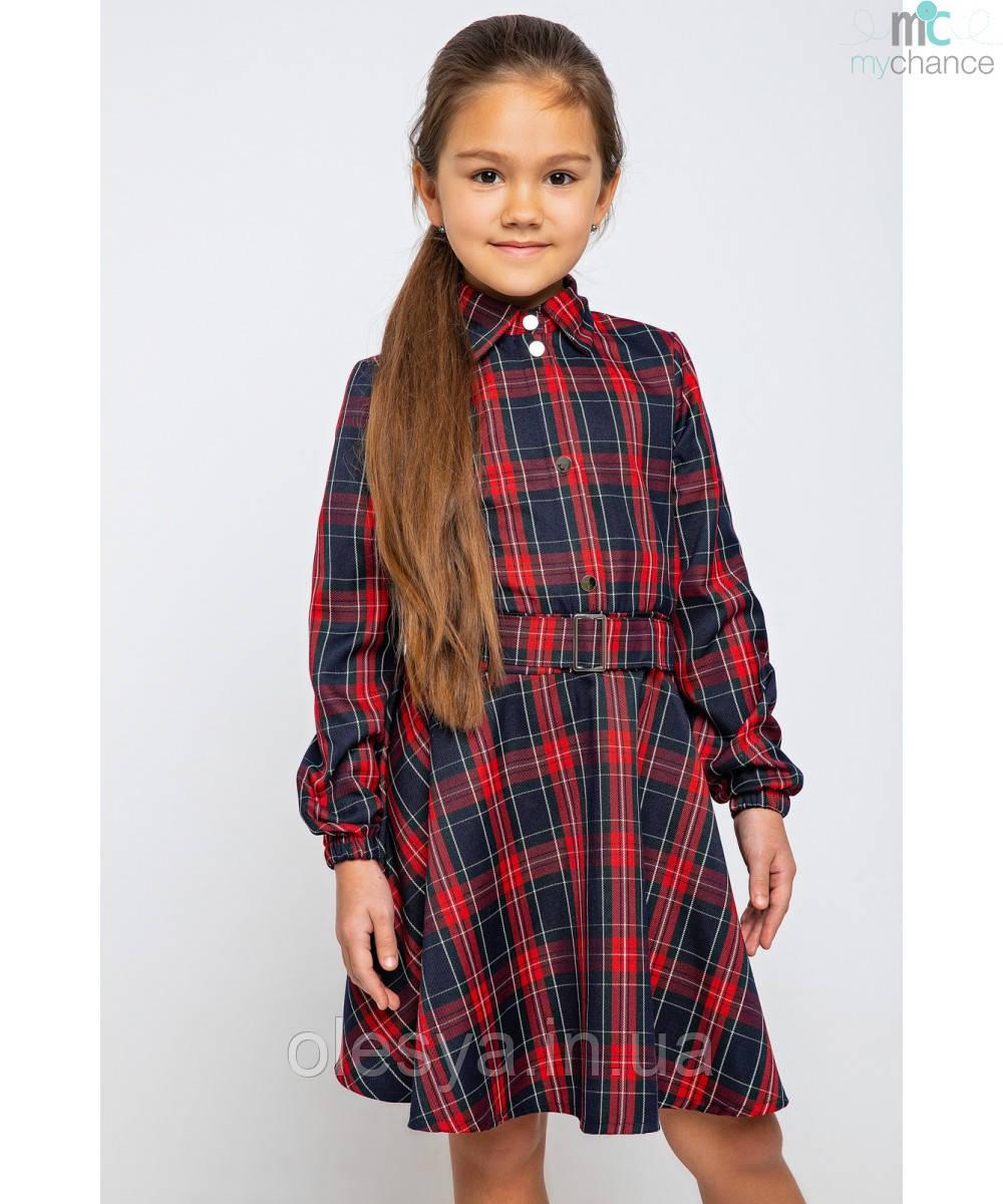 Платье школьное в клетку для девочек 226 тм MyChance Размеры 116