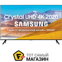 Черный LED телевизор для гостиной 50 Smart TV — Samsung UE50TU8000UXUA — c 2 x USB, 3 x HDMI, Bluetooth, cлот PCMCIA, Ethernet, Wi-Fi, доступ к сети