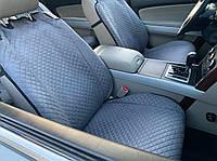 Накидки на сиденья из алькантары, Серый металлик. Премиум плюс. 2 передних