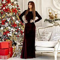 Платье бархатное в пол 10763