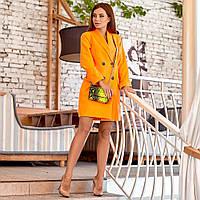 Платье-пиджак в ярких цветах 227-7