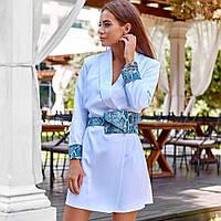 Стильное платье-пиджак с поясной сумкой 11341