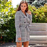 Удлиненный пиджак с поясом 2810